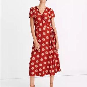 MADEWELL Daisy Daydream Ruffle Edge Wrap Dress